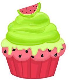 Watermelon clipart cupcake Clip ideas ✿⁀Cupcakes‿✿⁀ Pinterest art