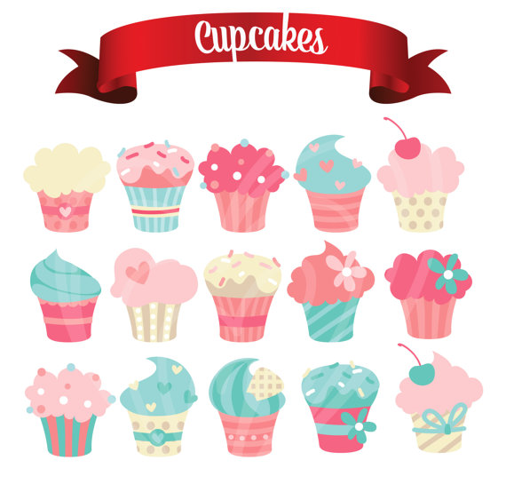 Muffin clipart colorful cupcake Art Pastel digitallove1 Cupcake Embellishments