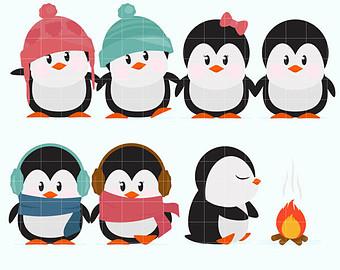 Penguin clipart winter break Owls Owls Clipart Penguins Winter