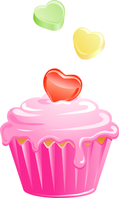 Pice clipart pink cupcake #10