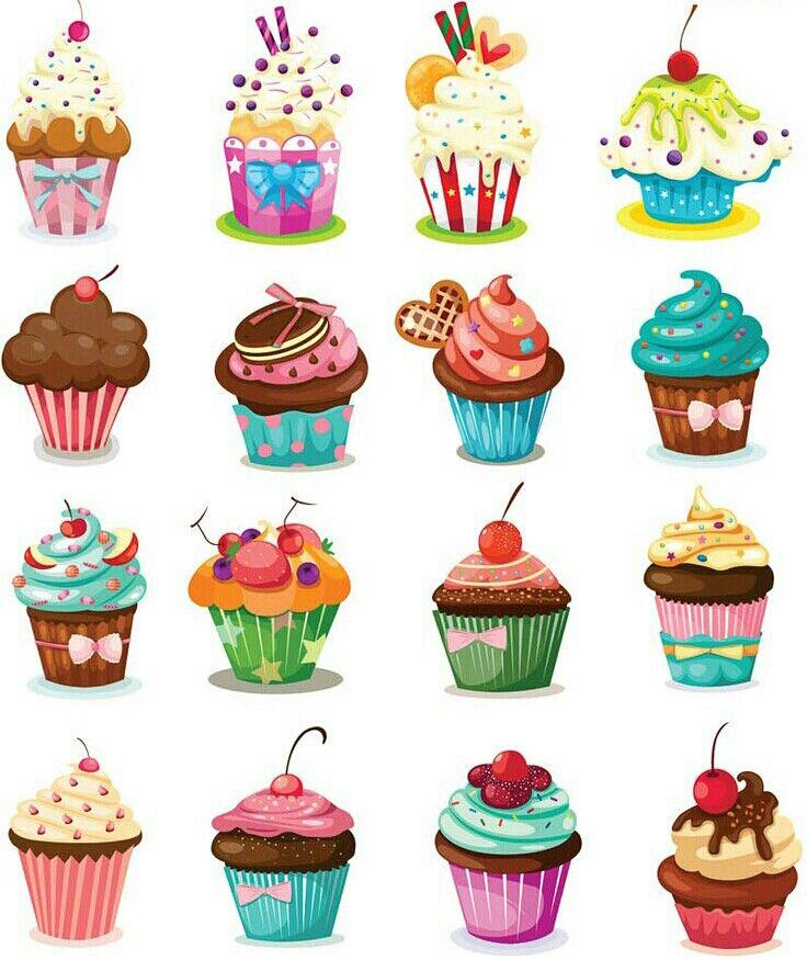 Drawn cupcake cake art Delicious Cupcake Embellishments ideas 20+