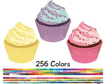 Vanilla Cupcake clipart sweet treat Treat Etsy Planner Sprinkles Muffin