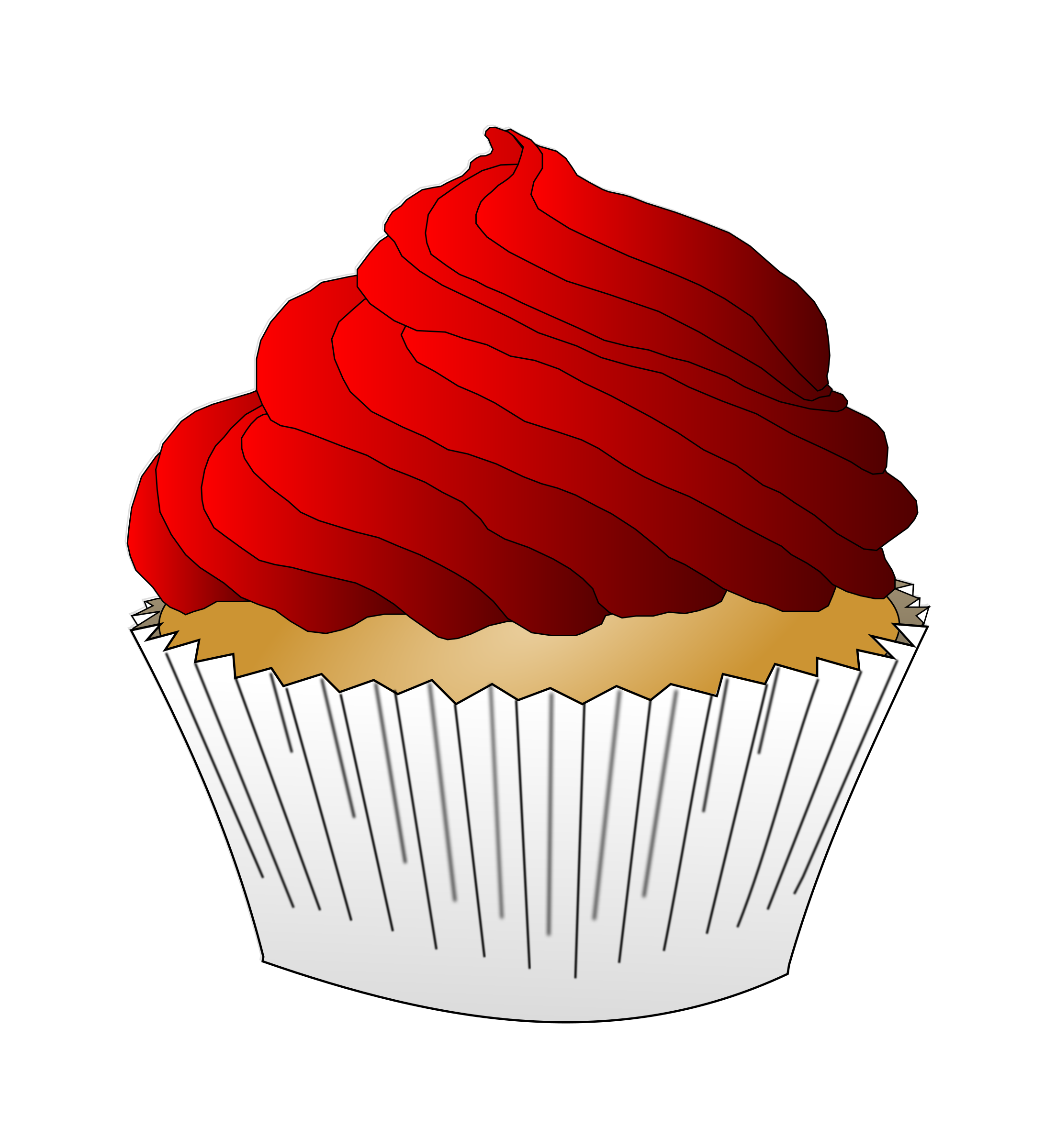 Icing clipart plain cupcake Cupcake Frosting Frosting Red Cupcake