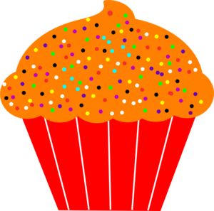 Muffin clipart orange cupcake Art Clip Clker Cupcake royalty