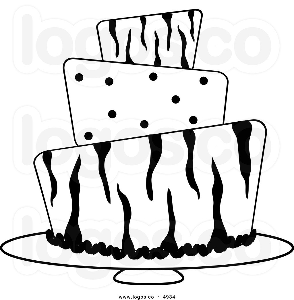Wedding Cake clipart outline Birthday Panda And  Free