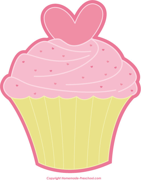 Pice clipart pink cupcake #11