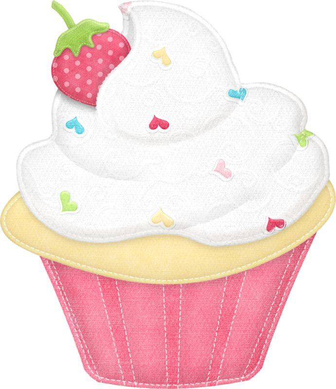 Vanilla Cupcake clipart one cupcake Pinterest on ●•‿T✿P⁀Cupcakes‿✿⁀•● CUPCAKES best