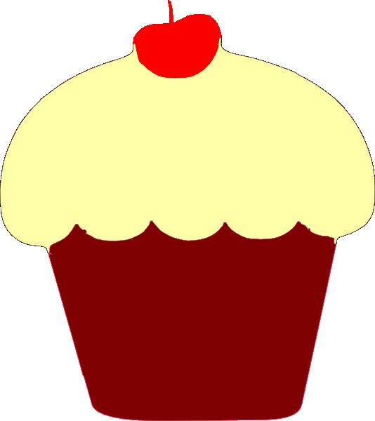 Vanilla Cupcake clipart animated Art Clker as: vector Clip