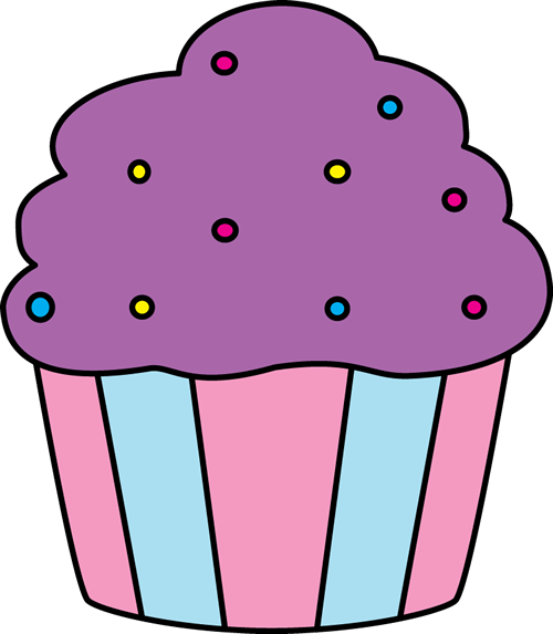 Muffin clipart purple Art Purple Cupcake with Sprinkles