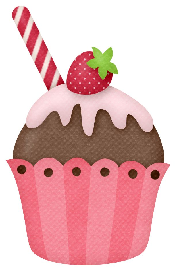 Muffin clipart strawberry cupcake CupcakesCupcake Pinterest on ♛༻ ArtFood