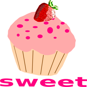 Vanilla Cupcake clipart kartun Pink at Art With Frosting