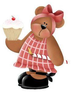Cupcake clipart teddy bear Best fofos my teddy TEDDY