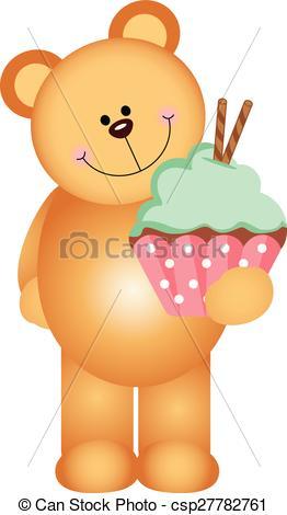 Cupcake clipart teddy bear Bear a  of holding