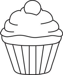 Templates  clipart cupcake Dibujo  Pinterest de para