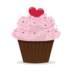 Brownie clipart valentine cupcake Cupcake Free Digital Images
