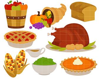 Pilgrim clipart food Clip art Thanksgiving Dinner Feast