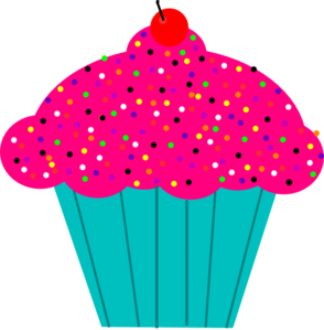 Pice clipart pink cupcake #12