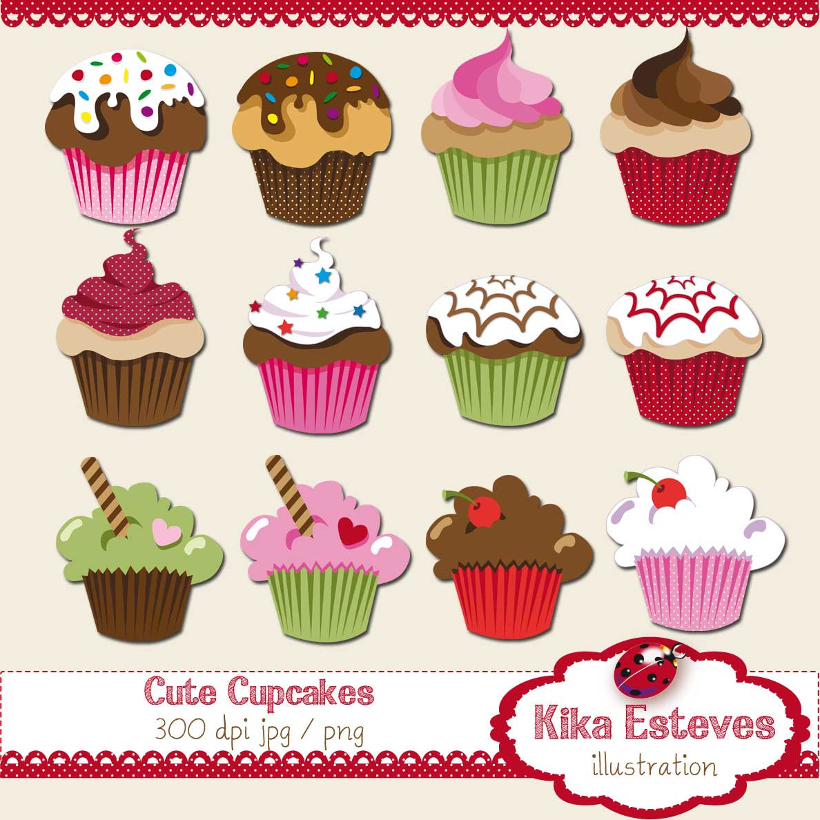 Cake clipart cute cupcake Clipart Clipart Pictures Becuo Whimsical