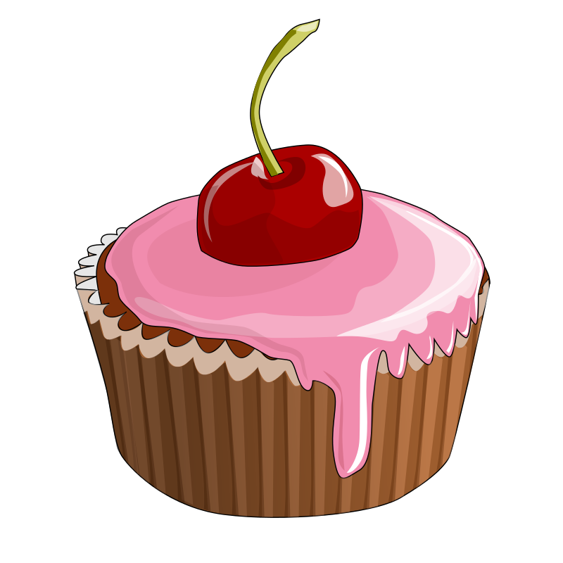 Pice clipart pink cupcake #13