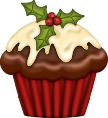 Muffin clipart christmas — Яндекс Фотках Cupcake на