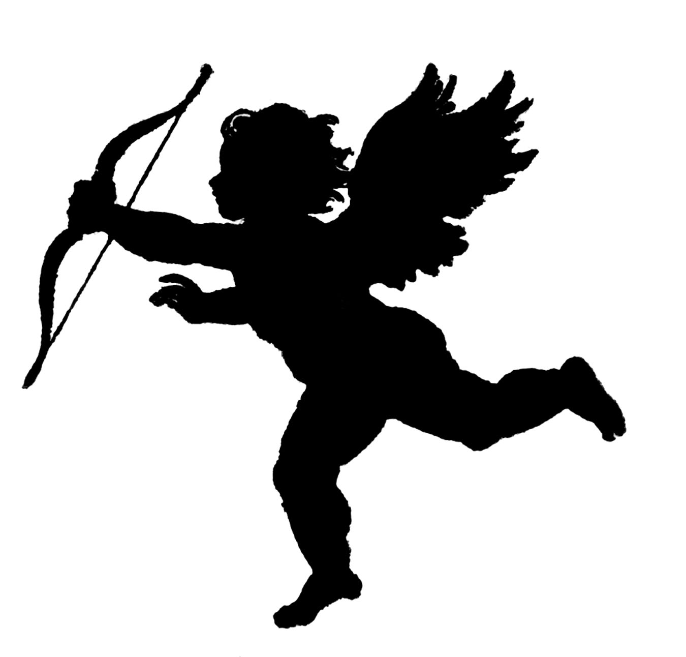Cupid clipart drunk Vintage Silhouette Art  Poems