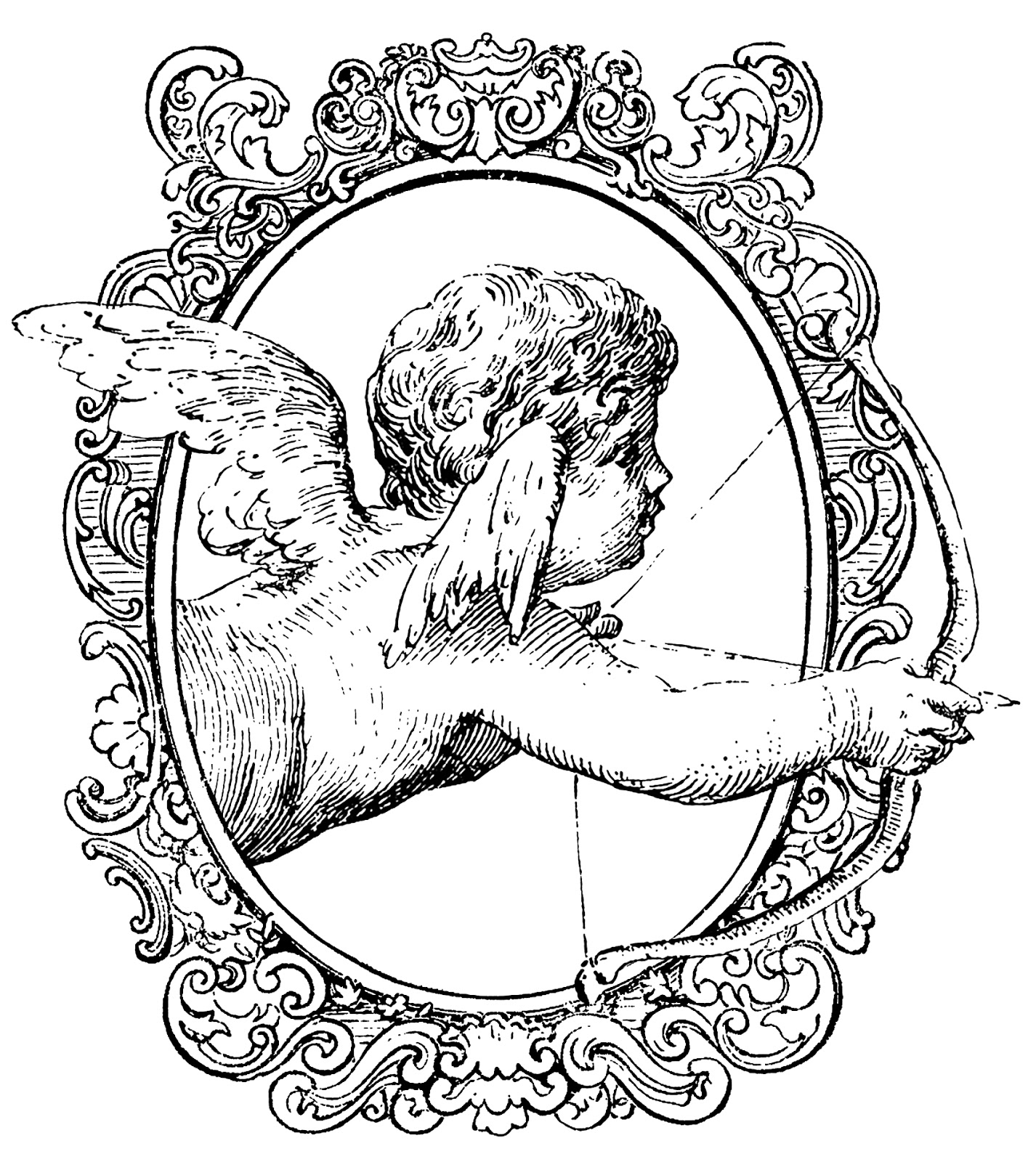 Cupid clipart antique Collage Cupid Vintage creations: collage