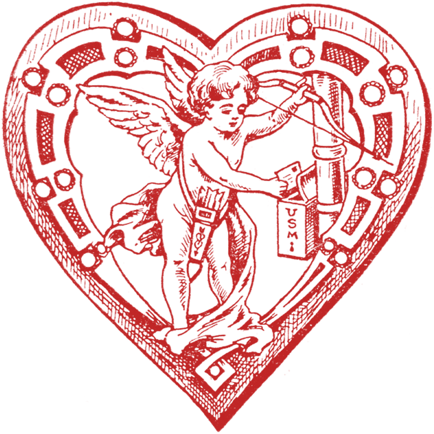 Cupid clipart antique Cupid Vintage Images Mailbox The