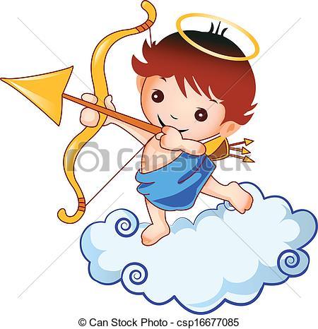 Cupid clipart baby Vector Cupid csp16677085 Vector baby