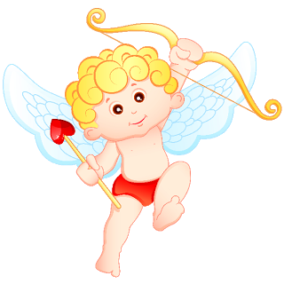Cupid clipart baby Valentine And Bow Girl White