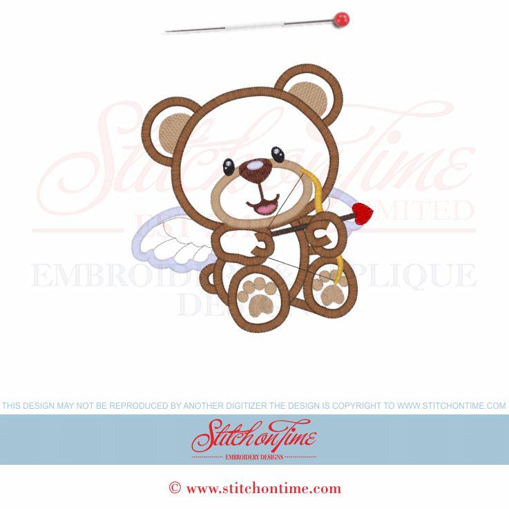 Cupid clipart bear Stitchontime Cupid Bear 5x7 Valentine