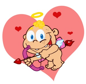 Cupid clipart cherub A Clipart Image his red