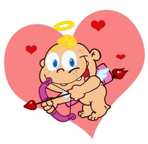Cupid clipart cherub Image: A Clipart heart his