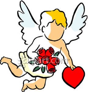 Cupid clipart cherub Holding a Cupid Cherub clipart
