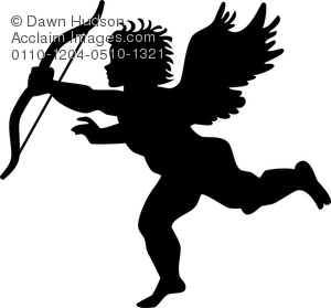 Cupid clipart cherub A Image of Simple Silhouette