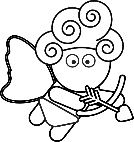 Cupid clipart easy Shooter Outline Download as: at