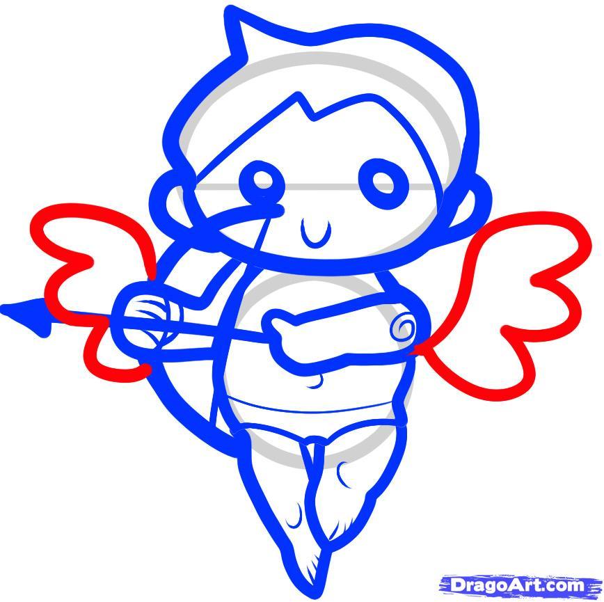 Cupid clipart easy Step for how Seasonal cupid