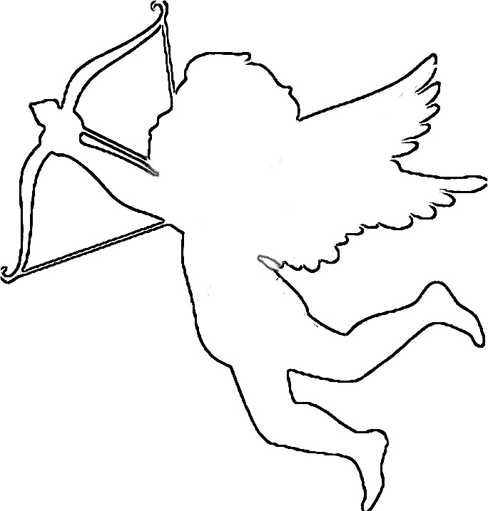 Cupid clipart easy White black Cupid clipart Black