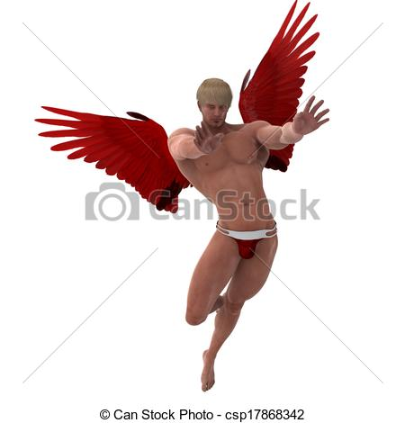 Cupid clipart male Hunk Fight of Drawing valentine