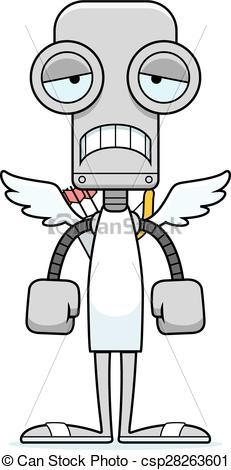 Cupid clipart sad Robot Robot Vector Sad cartoon