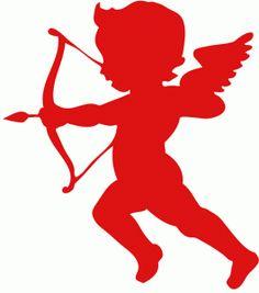 Cupid clipart simple Pinterest Design Silhouette I love