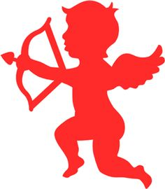 Cupid clipart simple Pinterest Online Silhouette I love
