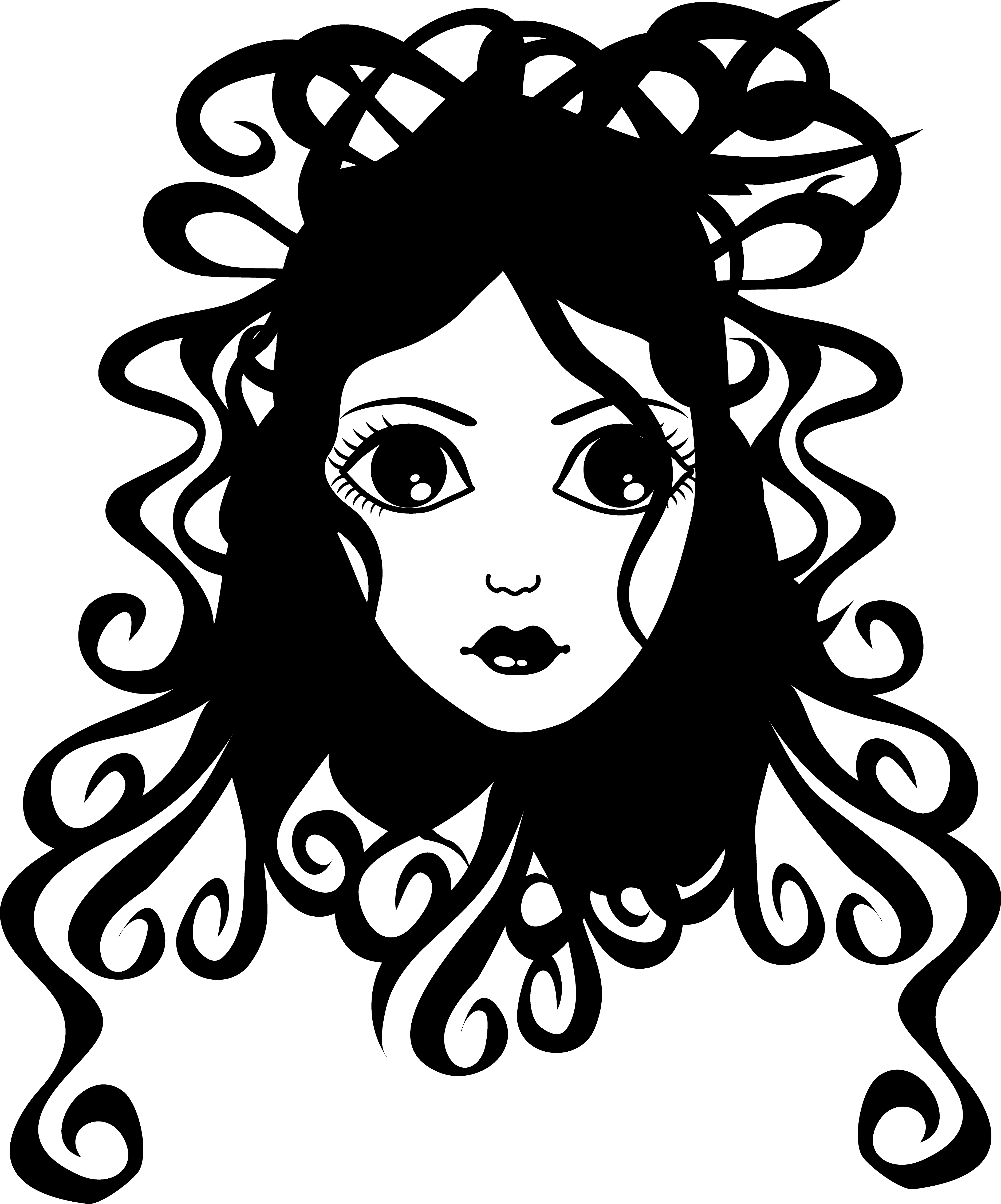 Hair clipart frizzy Black and Curly Curly Girl