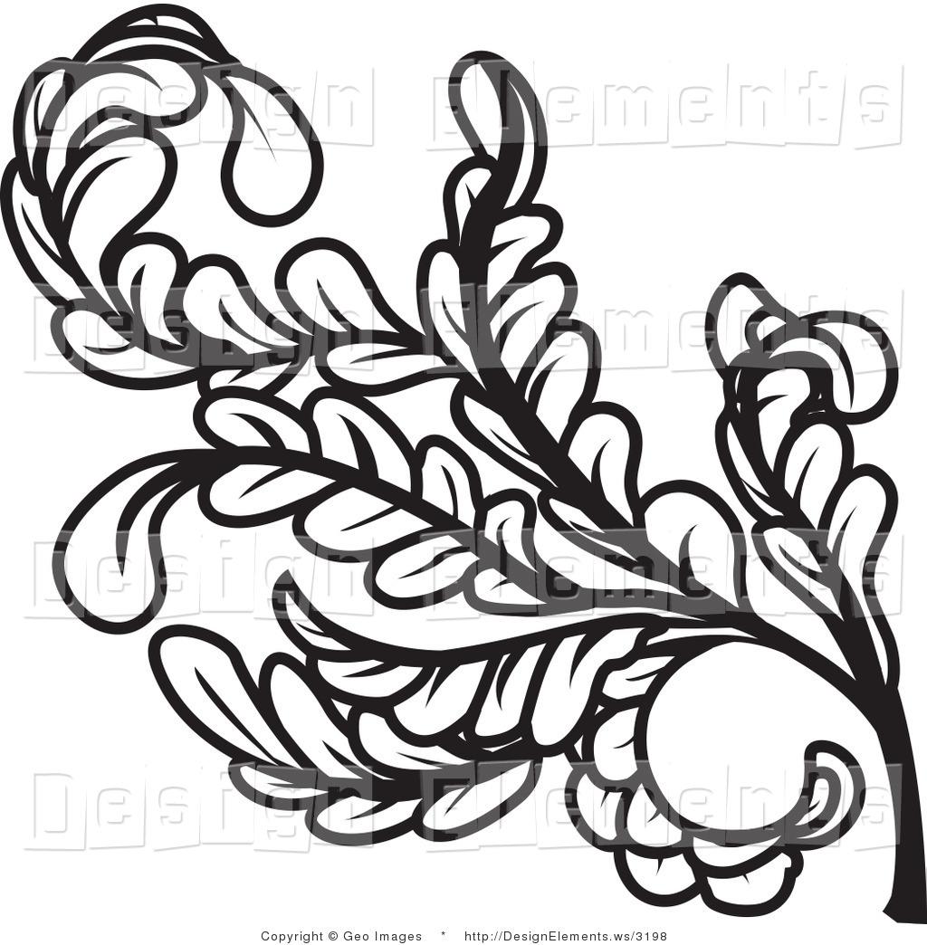 Curl clipart design pattern Leaves Free White Clip Black
