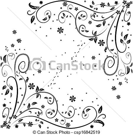 Curl clipart design pattern Vector  curl of pattern