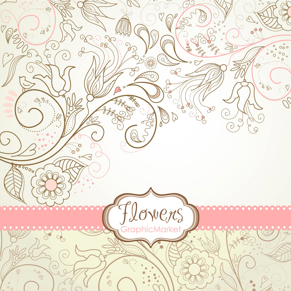 Curl clipart design pattern Flower Etsy for a Designs