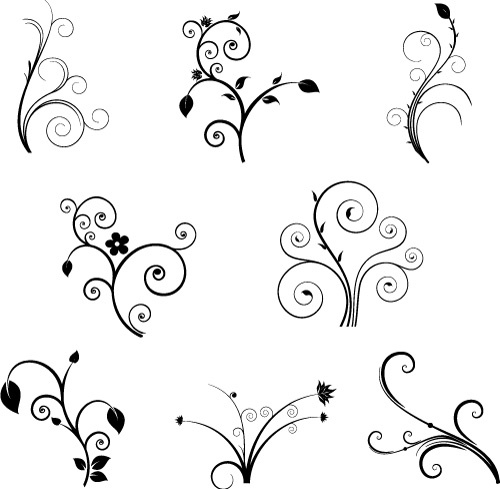Curl clipart design pattern And Art curls and swirls