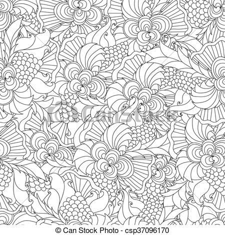 Curl clipart doodle Illustration Vectors for hand Decorative