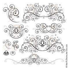 Curl clipart fancy Flourish  Images Wedding Vector