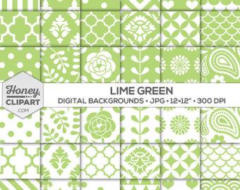 Curl clipart purple damask Patterns: Chevron Green Digital Background
