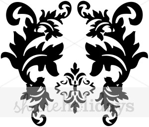Curl clipart purple damask Flourishes Holiday Clipart Clipart Black